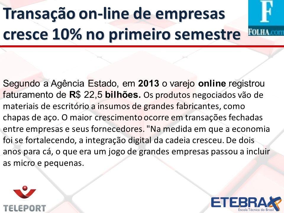 Transação on-line de empresas cresce 10% no primeiro semestre