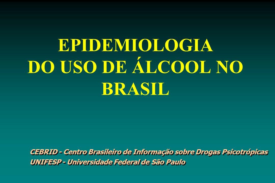 EPIDEMIOLOGIA DO USO DE ÁLCOOL NO BRASIL