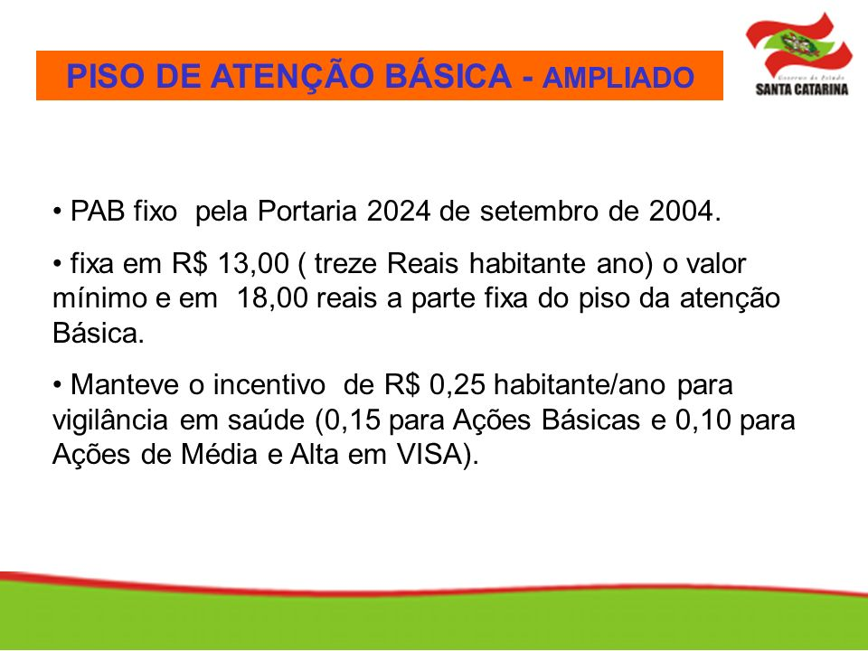 PISO DE ATENÇÃO BÁSICA - AMPLIADO