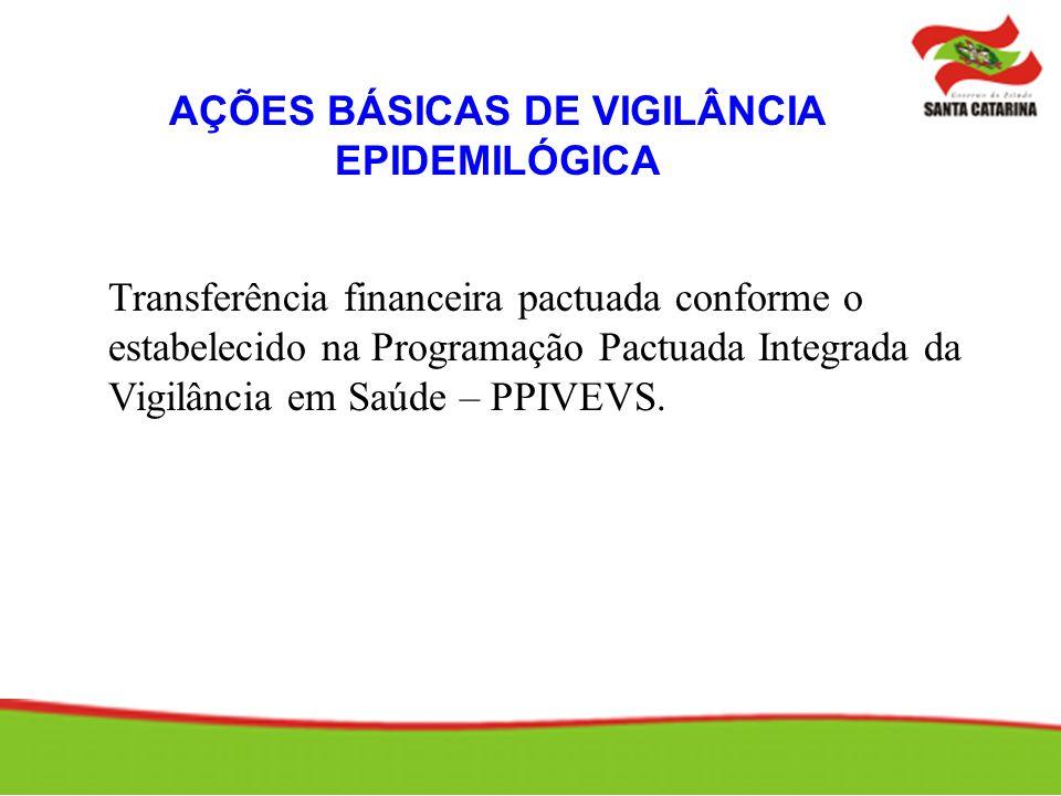 AÇÕES BÁSICAS DE VIGILÂNCIA EPIDEMILÓGICA