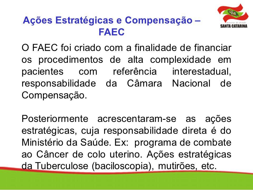 Ações Estratégicas e Compensação – FAEC