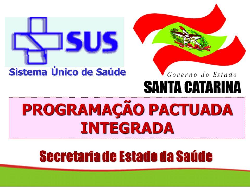 PROGRAMAÇÃO PACTUADA INTEGRADA Secretaria de Estado da Saúde
