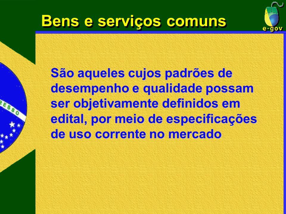 Bens e serviços comuns