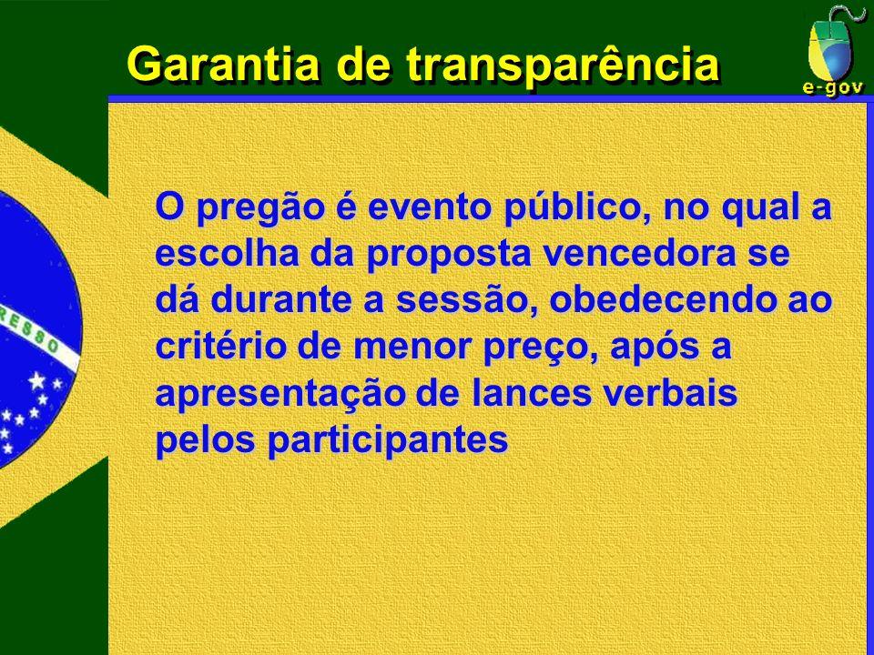 Garantia de transparência