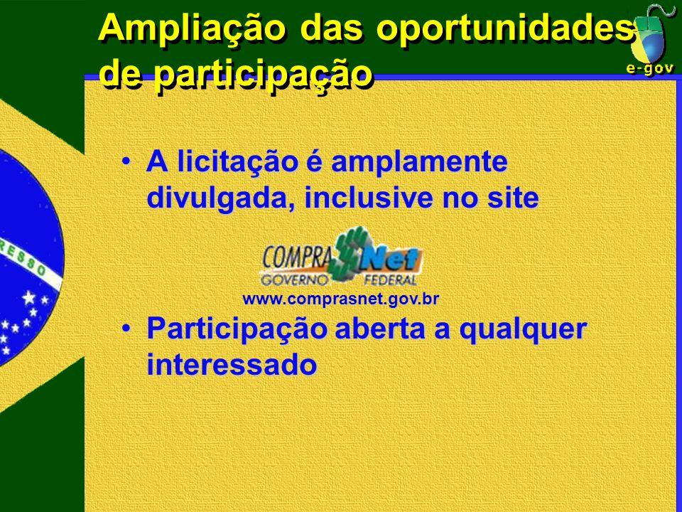 Ampliação das oportunidades de participação