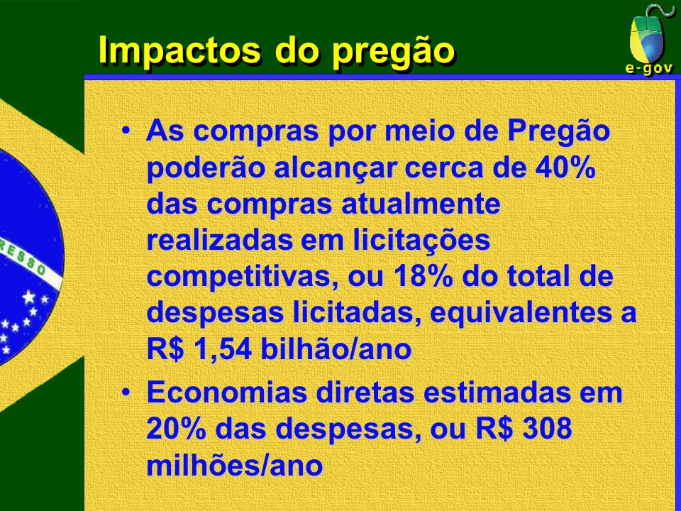 Impactos do pregão