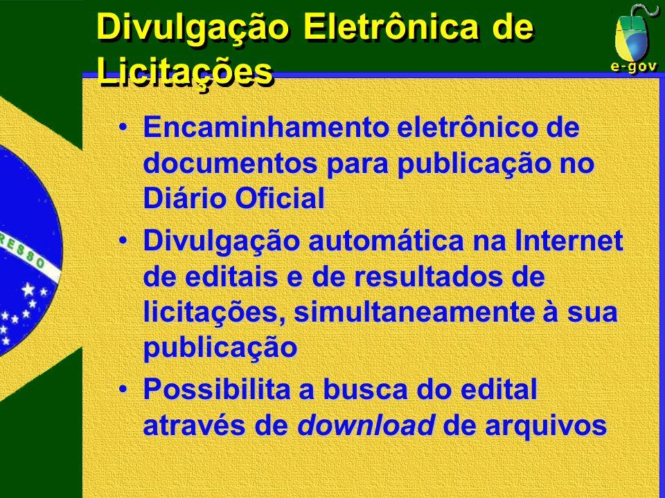 Divulgação Eletrônica de Licitações