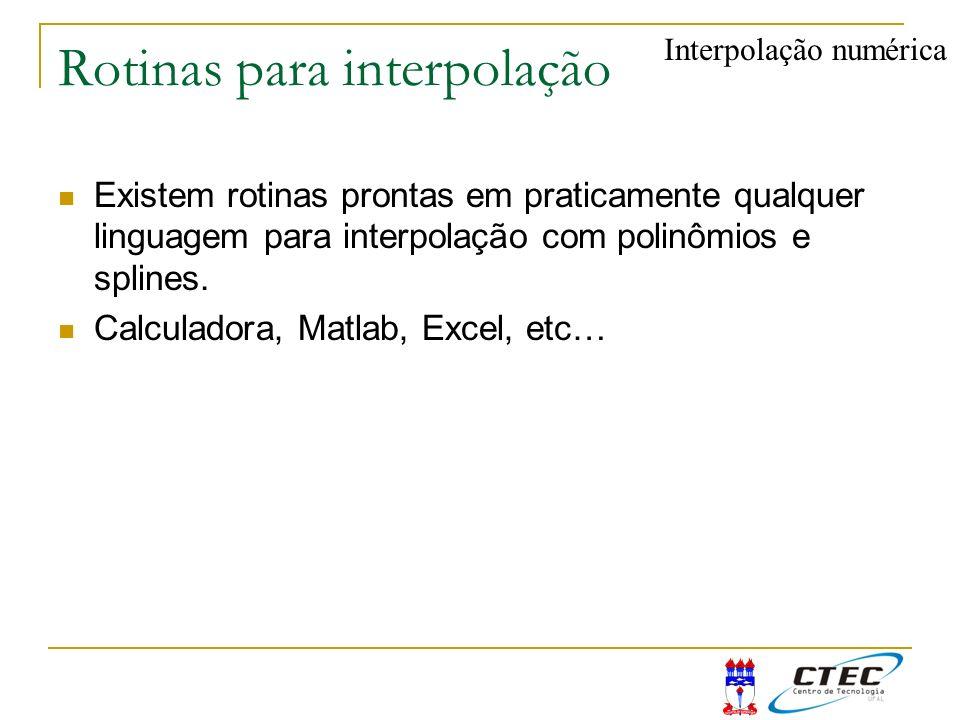Rotinas para interpolação