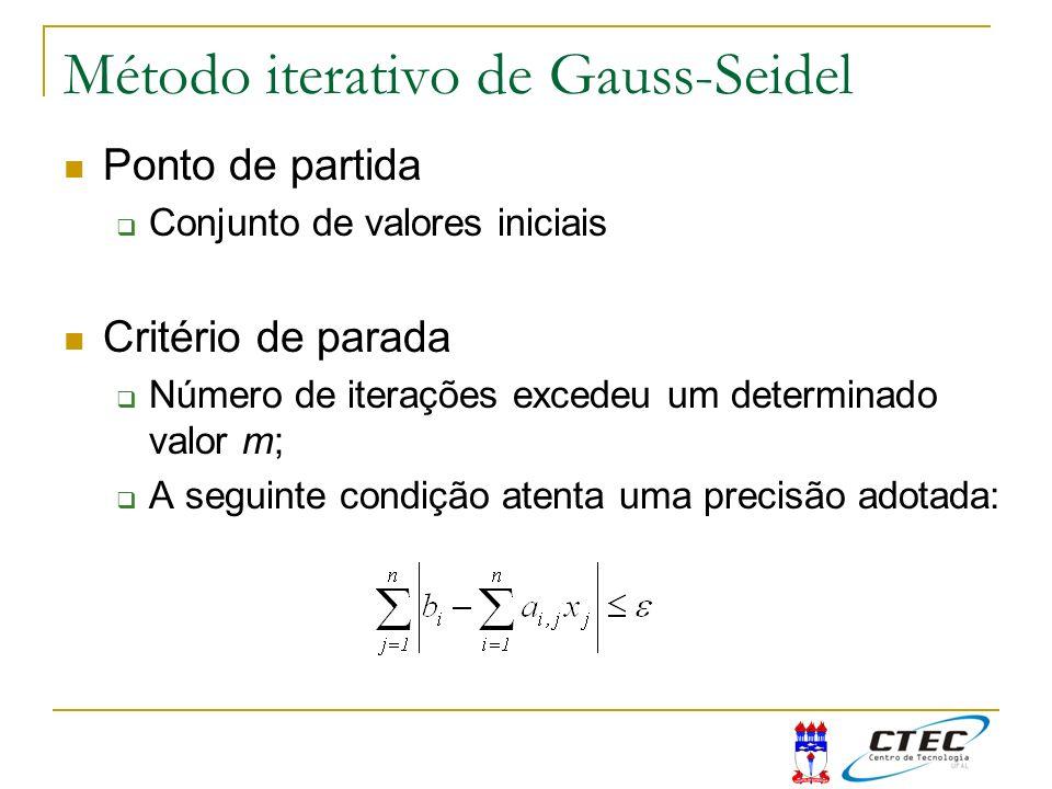 Método iterativo de Gauss-Seidel