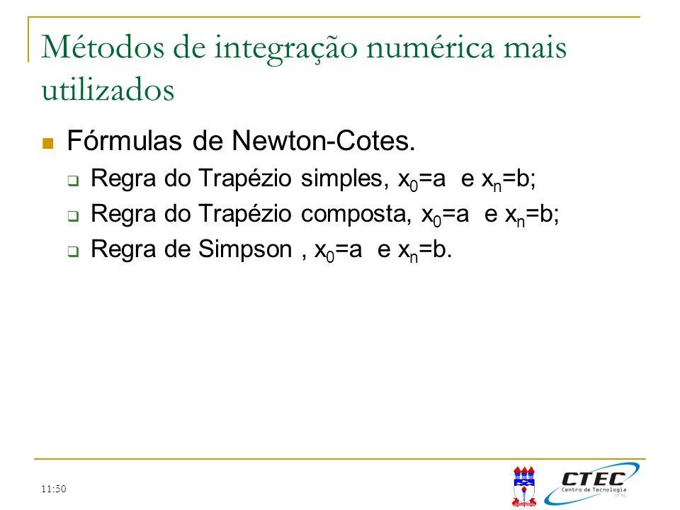 Métodos de integração numérica mais utilizados