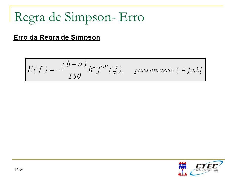 Regra de Simpson- Erro Erro da Regra de Simpson 12:09