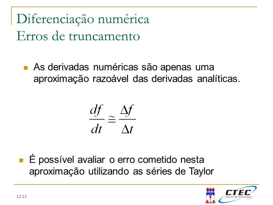 Diferenciação numérica Erros de truncamento