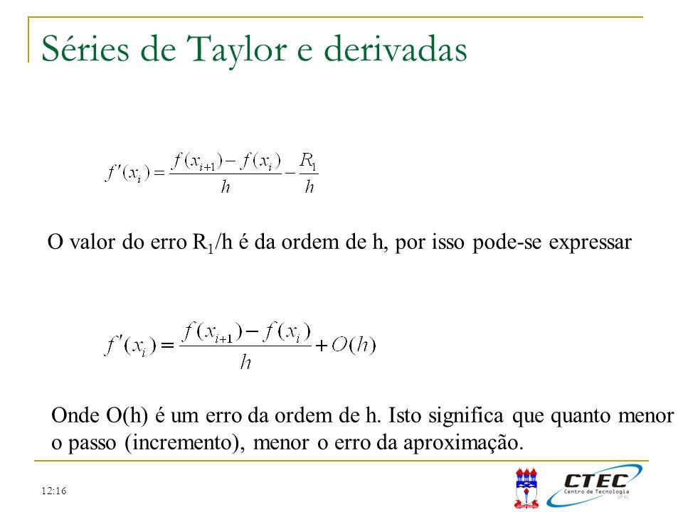 Séries de Taylor e derivadas