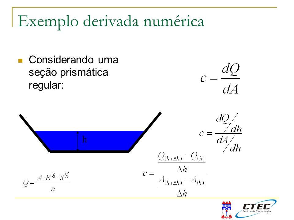Exemplo derivada numérica