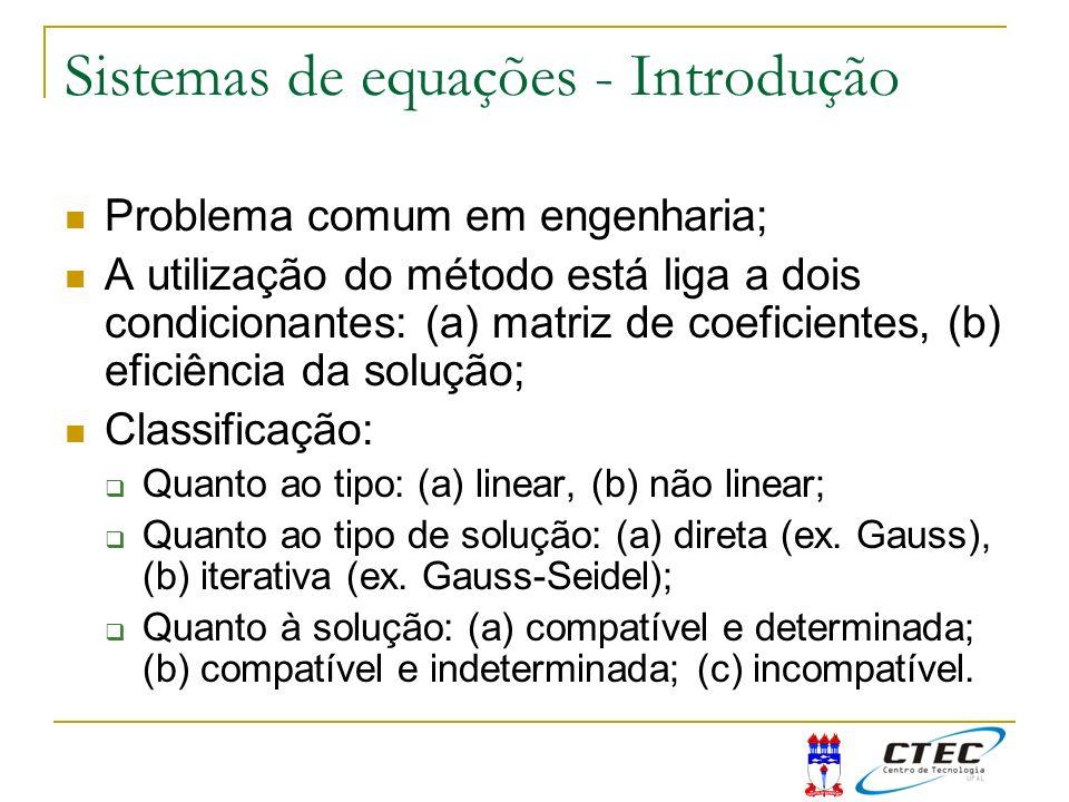 Sistemas de equações - Introdução