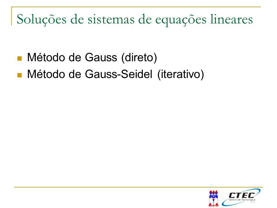 Soluções de sistemas de equações lineares