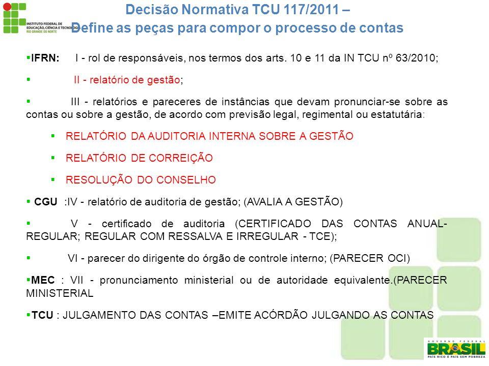 Decisão Normativa TCU 117/2011 –