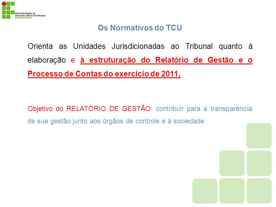 Os Normativos do TCU