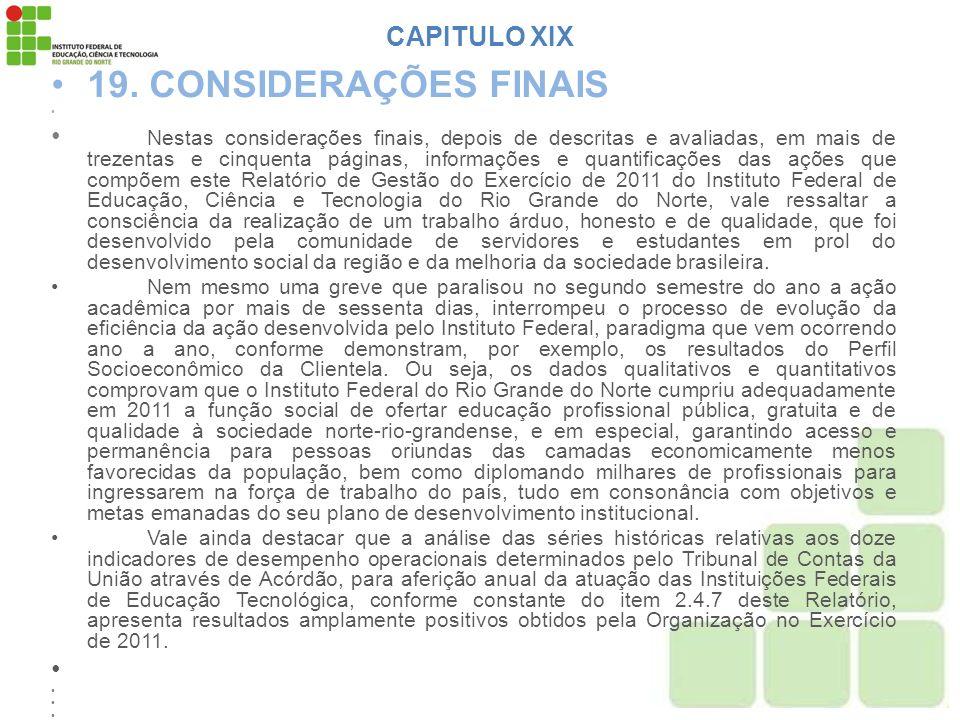 19. CONSIDERAÇÕES FINAIS CAPITULO XIX