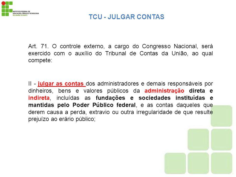 TCU - JULGAR CONTAS