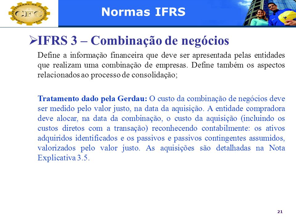 IFRS 3 – Combinação de negócios