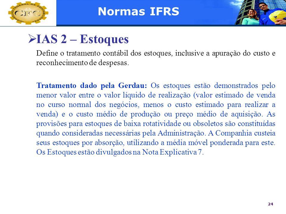 IAS 2 – Estoques Normas IFRS