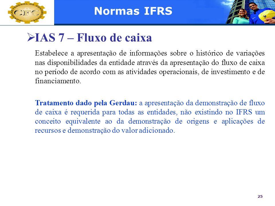IAS 7 – Fluxo de caixa Normas IFRS