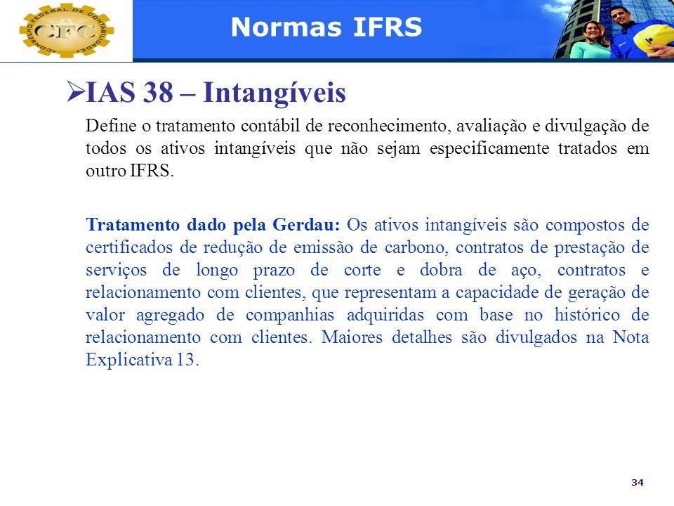 IAS 38 – Intangíveis Normas IFRS