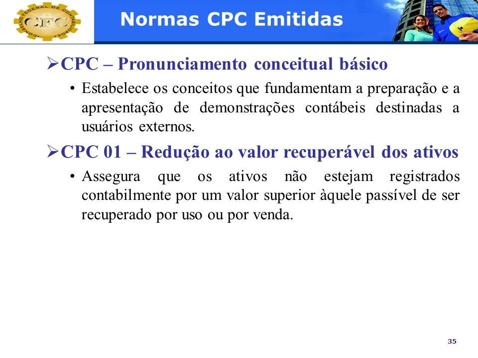 CPC – Pronunciamento conceitual básico