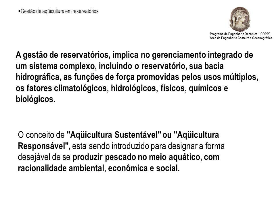 Gestão de aqüicultura em reservatórios
