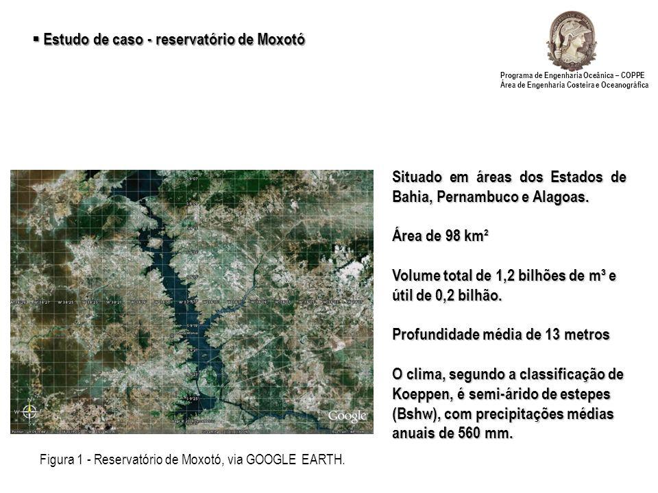 Figura 1 - Reservatório de Moxotó, via GOOGLE EARTH.