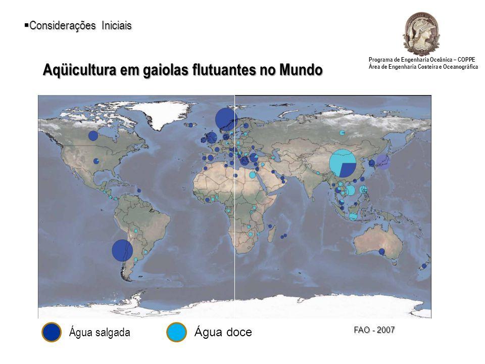 Aqüicultura em gaiolas flutuantes no Mundo
