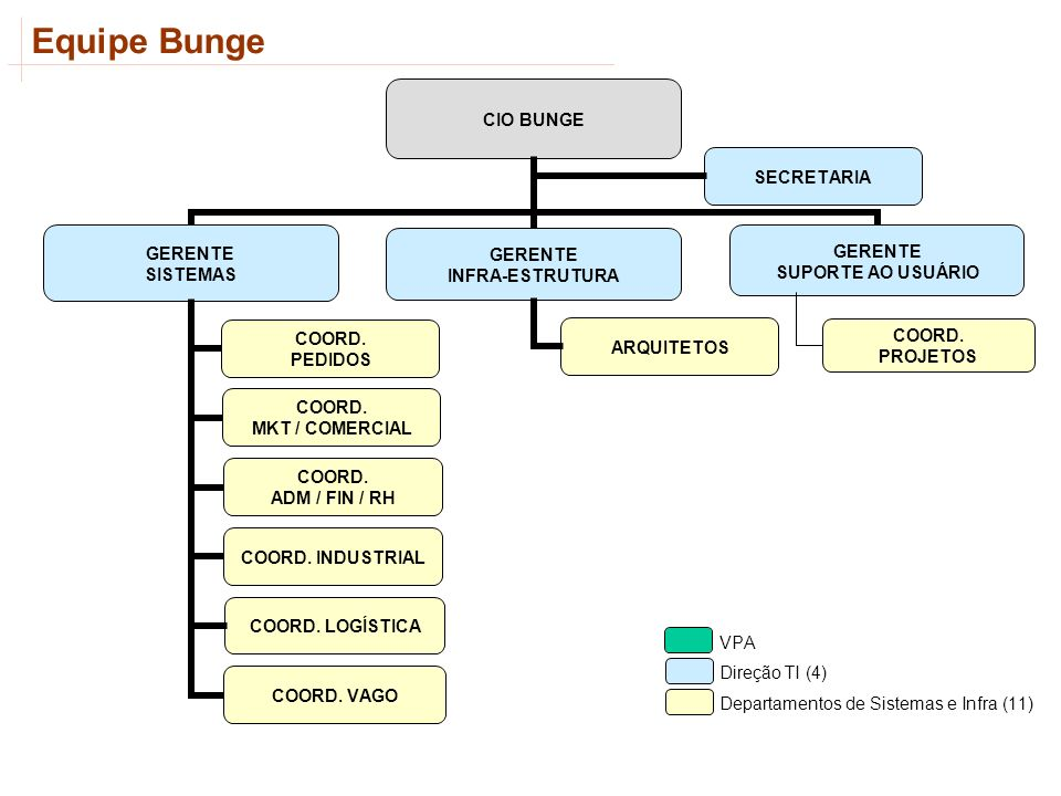 Equipe Bunge COORD. PROJETOS