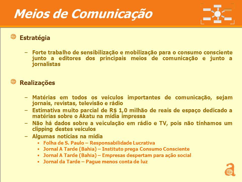 Meios de Comunicação Estratégia Realizações