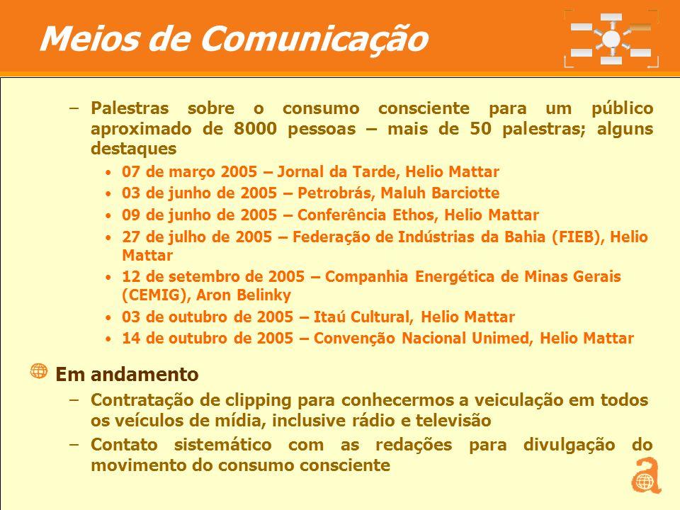 Meios de Comunicação Em andamento