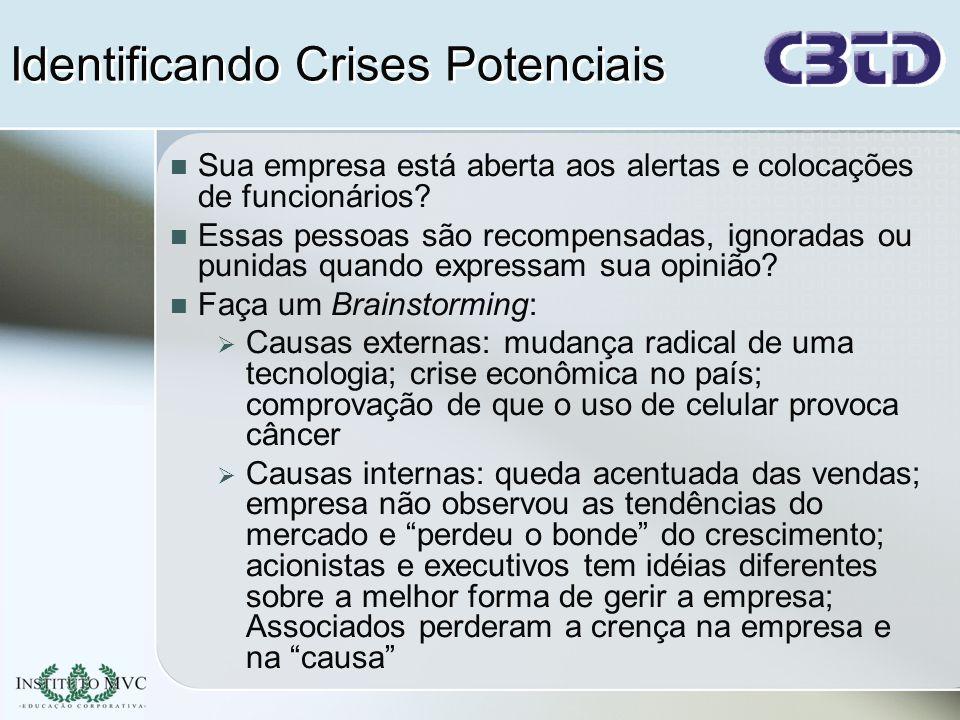 Identificando Crises Potenciais