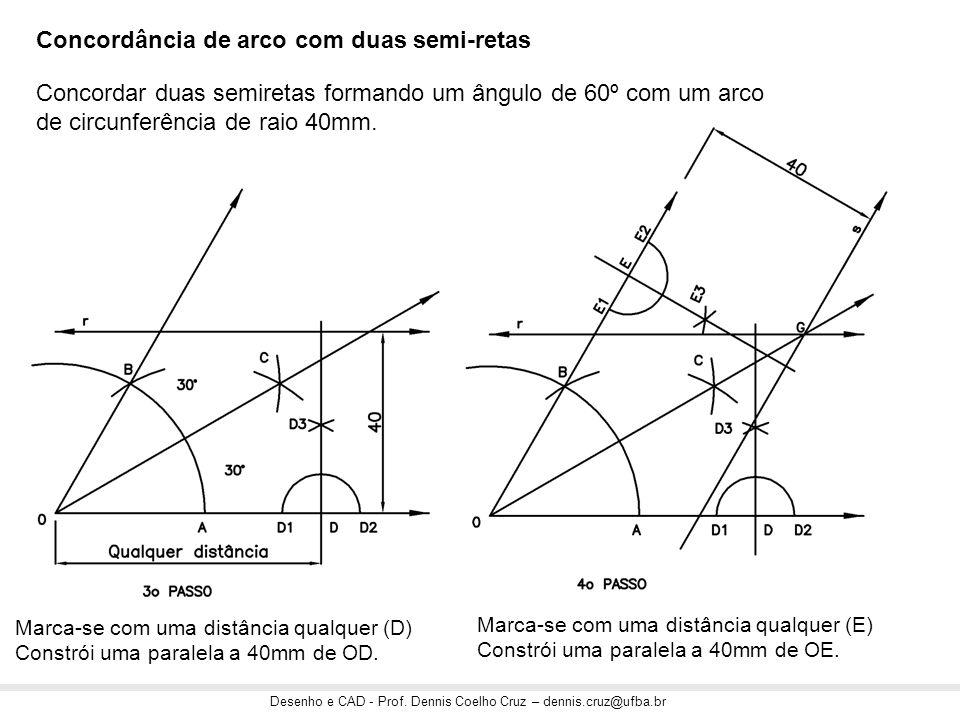 Concordância de arco com duas semi-retas