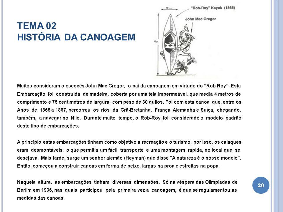 TEMA 02 HISTÓRIA DA CANOAGEM