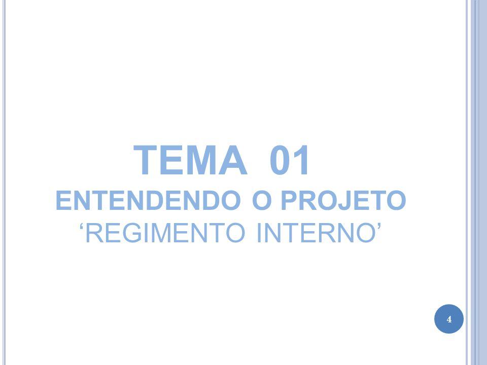 TEMA 01 ENTENDENDO O PROJETO 'REGIMENTO INTERNO'