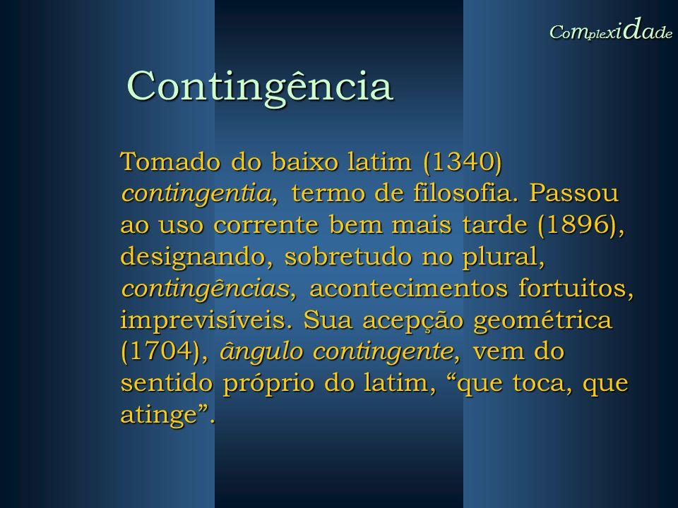 Complexidade Contingência.