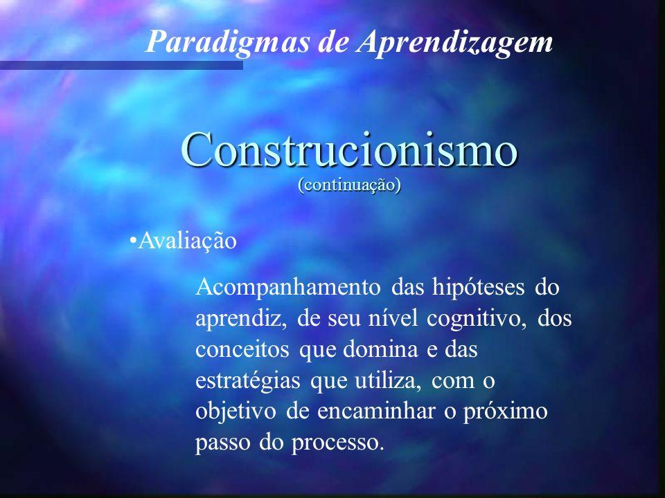 Construcionismo (continuação)