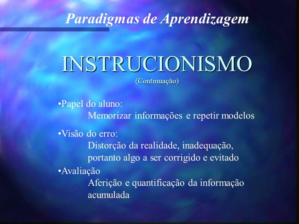 INSTRUCIONISMO (Continuação)