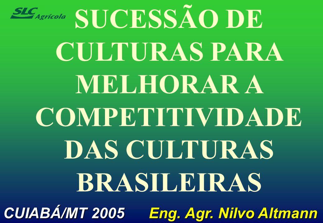 SUCESSÃO DE CULTURAS PARA MELHORAR A COMPETITIVIDADE DAS CULTURAS BRASILEIRAS