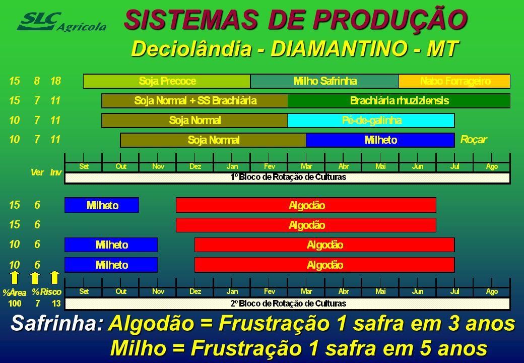 SISTEMAS DE PRODUÇÃO Deciolândia - DIAMANTINO - MT