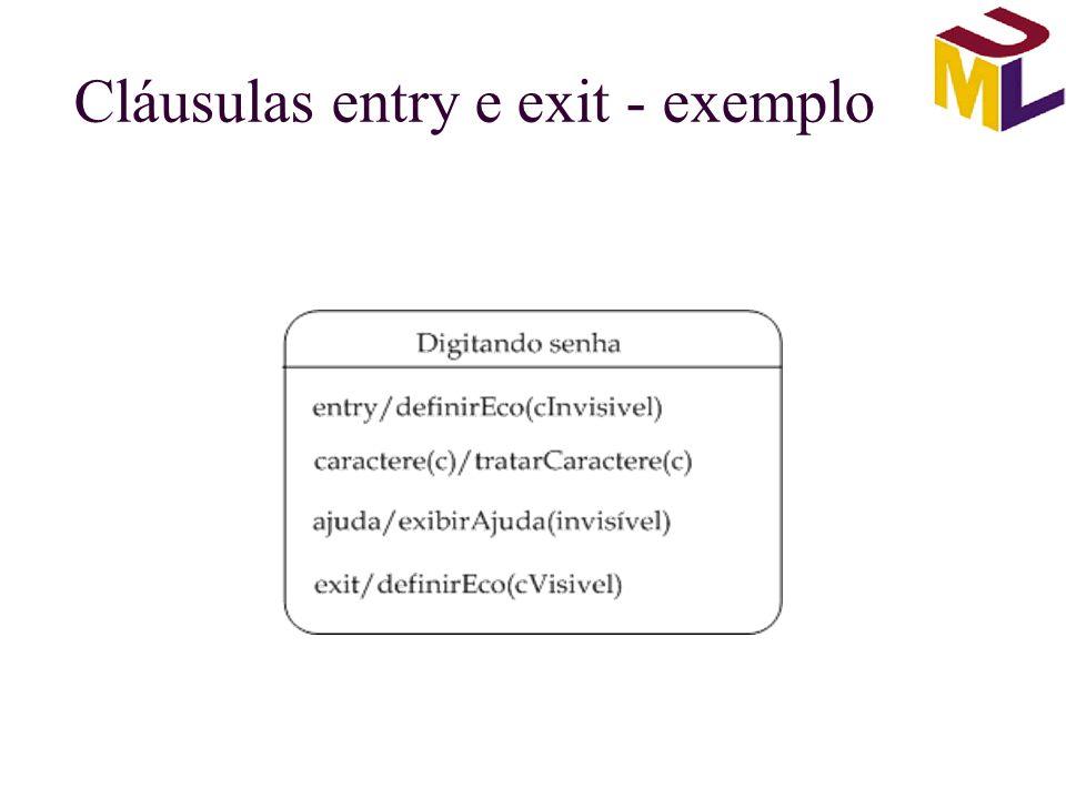 Cláusulas entry e exit - exemplo