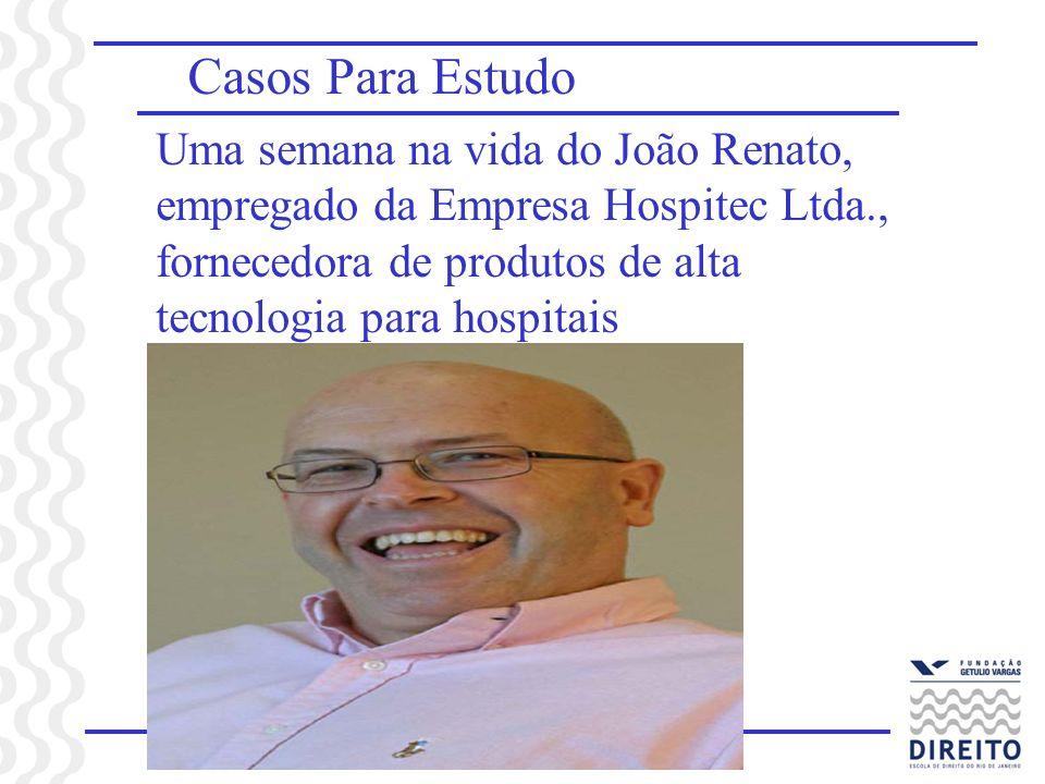 Casos Para Estudo Uma semana na vida do João Renato, empregado da Empresa Hospitec Ltda., fornecedora de produtos de alta tecnologia para hospitais.