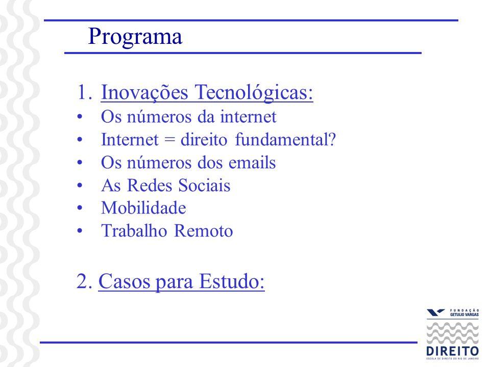 Programa Inovações Tecnológicas: 2. Casos para Estudo: