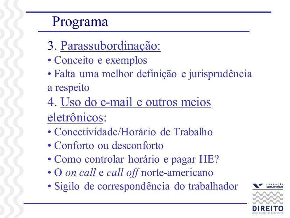 Programa 3. Parassubordinação: