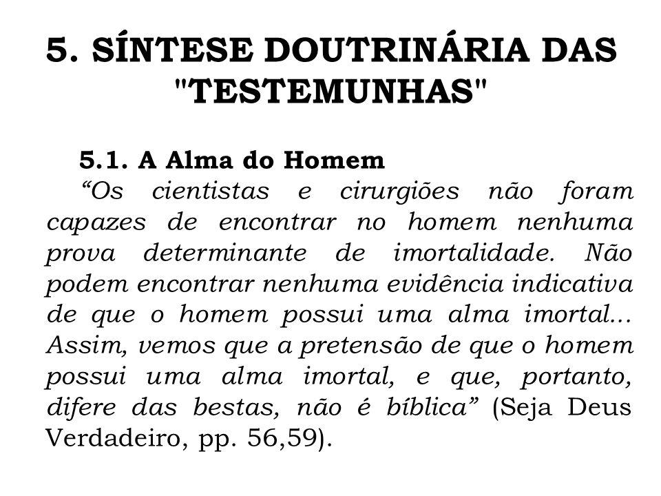 5. SÍNTESE DOUTRINÁRIA DAS TESTEMUNHAS