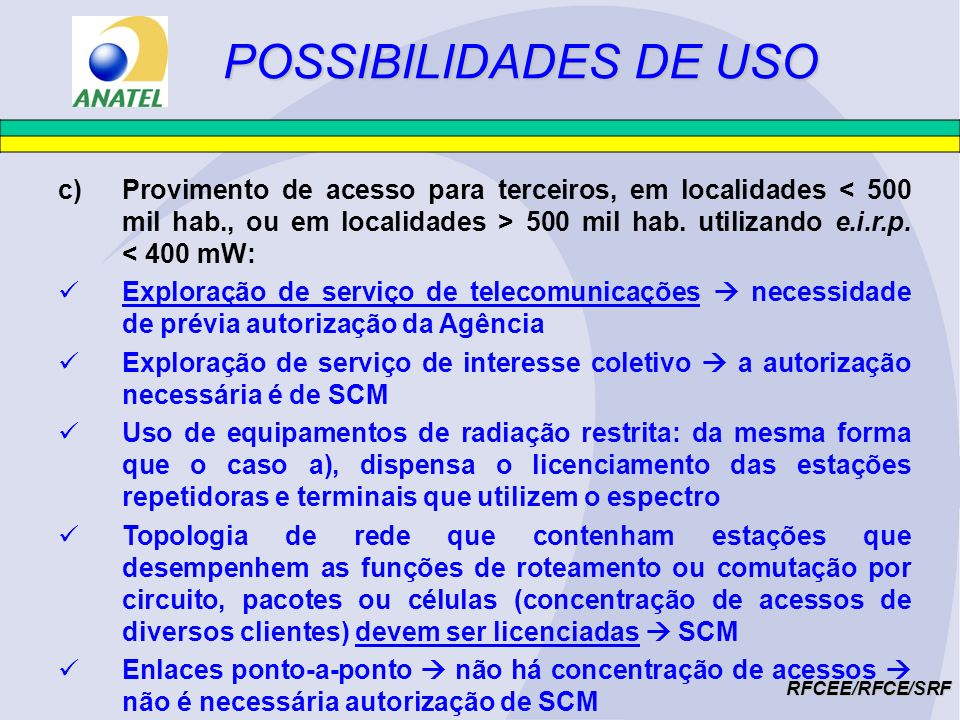 POSSIBILIDADES DE USO